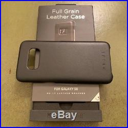 10 month old Samsung Galaxy S8 64GB (+ 64GB SD) Coral Blue Unlocked Leather Case