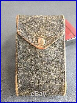 1913 Red Leather Eastman Kodak Vest Pocket Camera with Square Bellows & Case