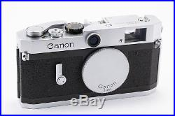(88) Canon P chrome RF camera withbody cap & leather case, near Mint