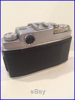 AGFA AMBI SILETTE CAMERA, LEATHER CASE, MANUAL, 2lenses, FLASH AND SCOUT METER