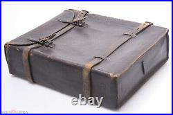 ANTIQUE'1890 QUALITY LEATHER CASE FOR 3 8x10 GLASS PLATE HOLDERS HERMAGIS