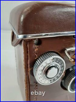 Amazing! Vintage Yashica 635 Twin Lens 80MM Camera With Leather Case And BOX