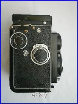 Antique Rolleicord TLR Camera Carl Zeiss Triotar 3.5/75mm Lens + leather case