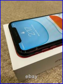 Apple iPhone 11 128GB Product Red Unlocked with Mous Leather case