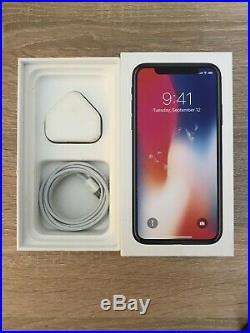 Apple iPhone X 64GB Space Grey Unlocked Bundle With Leather Case