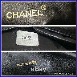 Authentic Chanel Vintage Chevron Camera Case In Black Ghw