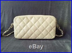 Authentic Pre-owned CHANEL Caviar Ivory Camera Case Bag