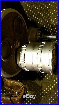 B & H 70 DR Filmo 16mm Movie Camera with Angenieux 1.8/10mm lens + leather case