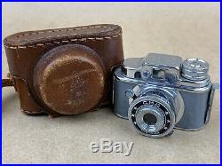 C. M. C. Gray Tougodo Hit Type Vintage Subminiature Camera with Leather case Rare