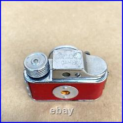 C. M. C Subminiature Spy Camera RED Leatherette With Leather Case, VINTAGE, NICE