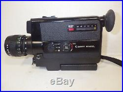 CANON 514XL SUPER 8 8mm FILM MOVIE CAMERA WITH ZOOM LENS & LEATHER CASE EX COND