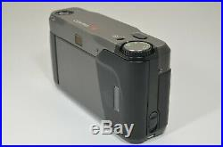 CONTAX T2 Titanium Black Film Camera with Full Leather Case #a1375 Shooting Tested