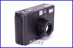 CONTAX T3 BLACK DATA BACK Double Teeth Point & Shoot Film Camera with Leather Case