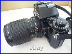 Canon A-1 35mm SLR Camera, FD35-105/3.5-4.5, filter, leather case Japan Ex++++ 2581
