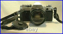 Canon AE-1 35mm Film Camera with 50 mm 118 Lens & Leather Case Tested Working