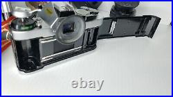 Canon AE-1 Program Film Camera 35mm With50mm Lens, Tri-pod, Leather Case, Untested