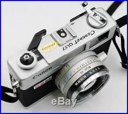 Canon Canonet QL17 G-III Film Camera With New Light Seal, Leather Case, And Filter