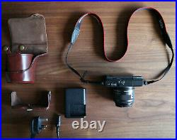 Canon EOS M10 Camera Mirrorless 18.0MP with 15-45mm IS STM (with Leather Case)