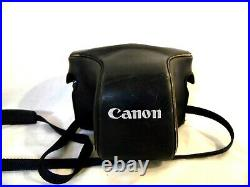 Canon F-1 Camera with Lens FD 50mm 11 S. S. C. 523681 in leather carrying case