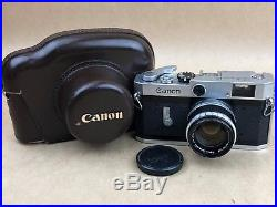 Canon P Rangefinder Camera with 50mm f/1.8 LTM M39 lens & Leather case