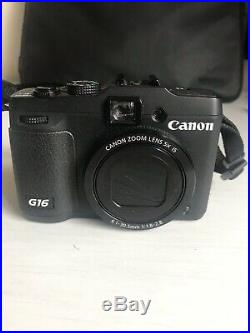 Canon PowerShot G16 12.1 MP Digital Camera Black Boxed Leather Carry Case