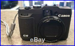 Canon PowerShot G16 12.1MP Digital Camera, Leather case, Remote & Charger