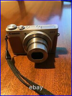Canon PowerShot G9X MKII 20MP 3x Zoom Compact Digital Camera with leather case