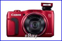 Canon PowerShot SX710 20.3MP Digital Camera Red with Deluxe Leather Case