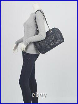 Chanel Black Quilted Caviar Leather Front Pocket Camera Case Bag