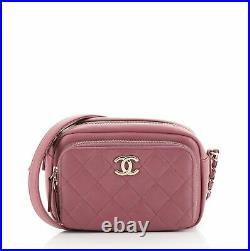 Chanel Business Affinity Camera Case Bag Quilted Caviar Small