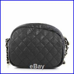 Chanel CC Day Camera Case Quilted Caviar Medium