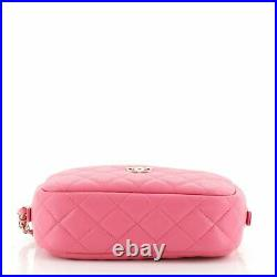 Chanel Camera Case Bag Quilted Caviar Mini