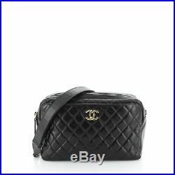 Chanel Camera Case Bag Quilted Glazed Calfskin Small