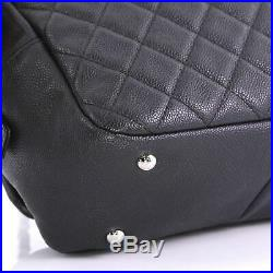Chanel Camera Case Flap Bag Quilted Caviar Medium
