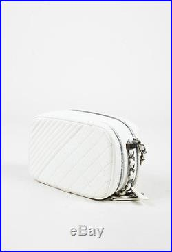 Chanel Cream Quilted Leather Small Coco Boy Camera Case Shoulder Bag