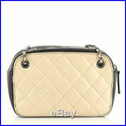 Chanel Diamond CC Camera Case Bag Quilted Lambskin Small