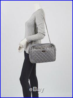 Chanel Grey Quilted Calfskin Leather Large Reissue Camera Case Bag