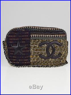 Chanel Multicolor Tweed and Leather Star Camera Case Bag