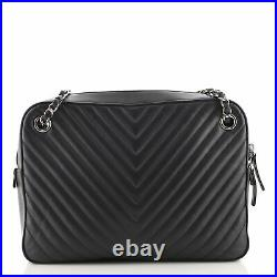 Chanel Paris-Hamburg Double Camera Case Bag Chevron and Diamond Quilted