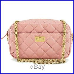 Chanel Pink Reissue 2.55 Mini Crossbody Classic Camera Case Bag 63429