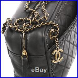 Chanel Whipstitch Camera Case Bag Quilted Iridescent Calfskin Large