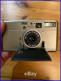 Contax 35mm TVS III Camera Pristine With Box Leather Case Manuals Etc Zeiss T2