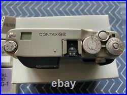 Contax G2 35mm Film Camera, 35mm f2 Lens, 90mm f2.8 Lens, Filters & Leather Case