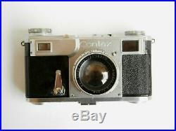 Contax II Camera with Sonnar 12 f=50mm lens with authentic leather case