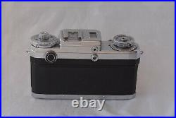 Contax IIIA Color Dial Camera with50mm f/1.5 Sonnar + Hood Leather Case