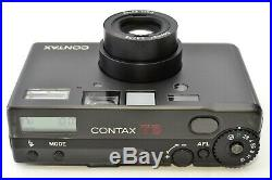 Contax T3 Black Double Teeth Camera with Hood Adapter Leather Case Strap JPN #2054