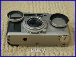 Contax TVS compact film camera and leather case