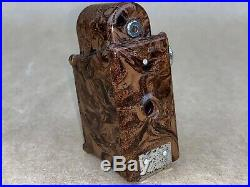 Coronet MIDGET Subminiature Camera Brown Bakelite withLeather Case Cute