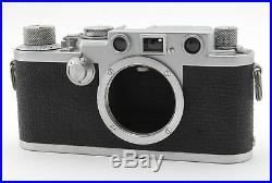 EXC++++ Leica IIIf Black Dial Film Camera With Original Leather Case from Tokyo
