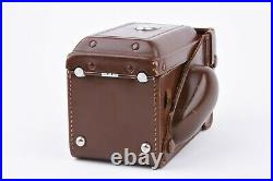 EXC++ ROLLEIFLEX TLR 3.5F BROWN LEATHER EVEREADY FITTED CASE withMETER COVER